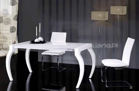 Extensible curved foot table M-858