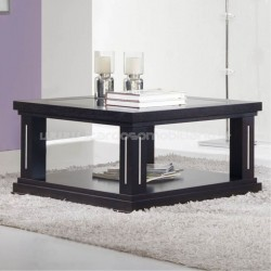 Table basse saphir avec top verre