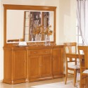Sideboard Lux 4P with mirror